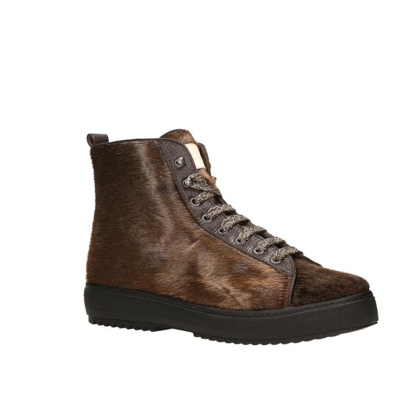 ankle boot gold brown calzaturificio creative srl