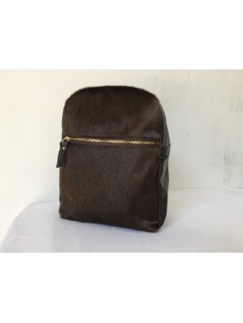 BACKPACK WITH ZIP BROWN