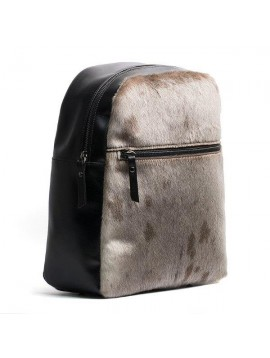 BACKPACK WITH ZIP   ART. A114  NATURAL/BLACK