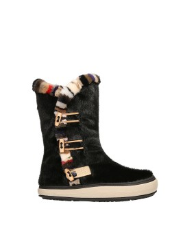 SNOW BOOT BLACK MULTICOLOR